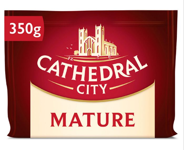 Cathedral City Mature, Extra Mature, Mild, and Lighter Cheese 350g - Save £1.61!