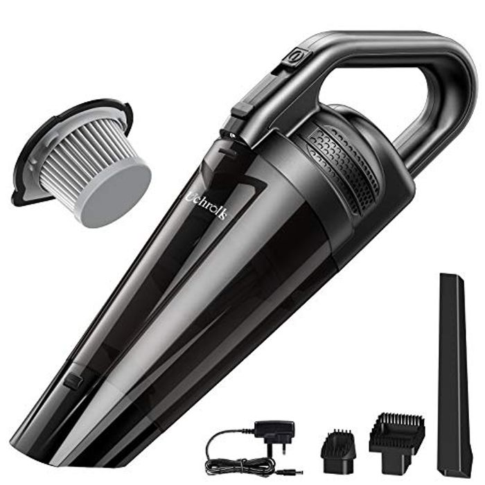 Uchrolls Handheld Vacuum Cleaner,Rechargeable Cordless Vacuum