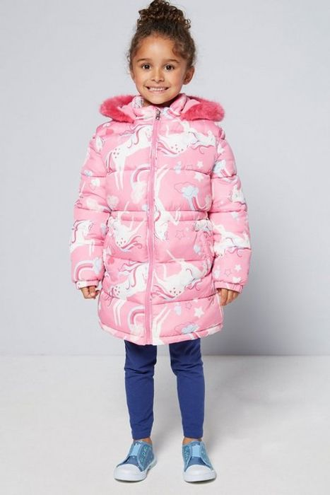 Younger Girls Quilted Unicorn Jacket Age 1-2 & 3-4 Years