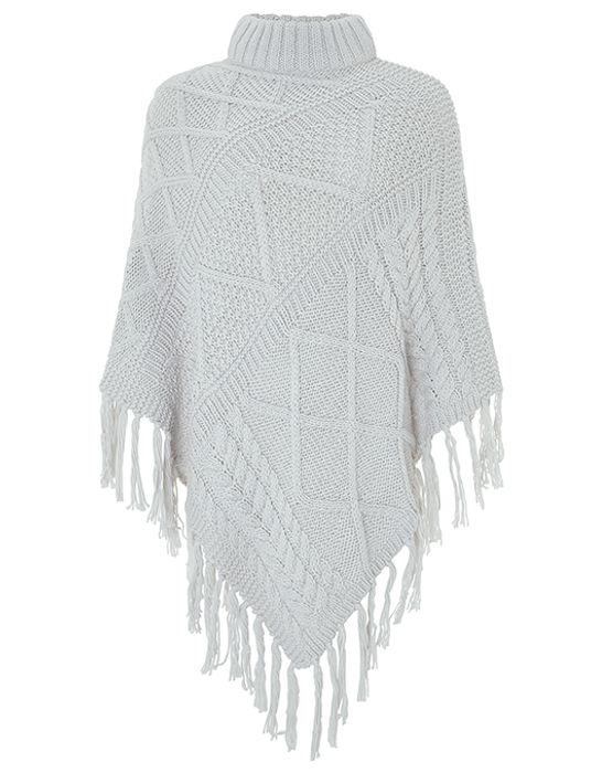 Penelope Cable Knit Poncho