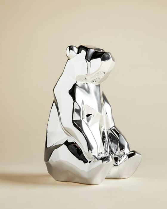Ted Baker IBLIS Silver Polar Bear Money Box - FREE DELIVERY