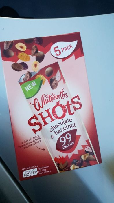 Chocolate & Hazelnut Shots X5 75p