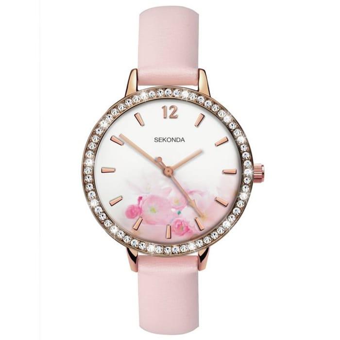 Sekonda Ladies Slimline Nude Strap Watch - Only £19.99!