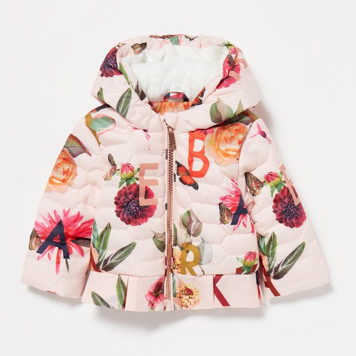 Baker by Ted Baker - Baby Girls' Light Pink Printed Coat - HALF PRICE!