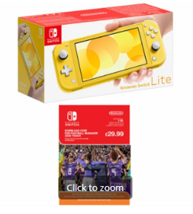 Cheap NINTENDO Switch Lite - Yellow with Football Manager Touch 2020 Only £209
