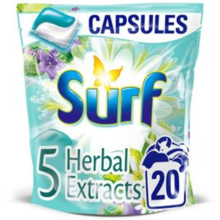 Surf 5 Herbal Extracts Washing Capsules 20 Wash