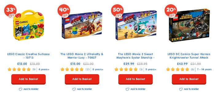Up to 50% off Selected LEGO Sets at the Entertainer