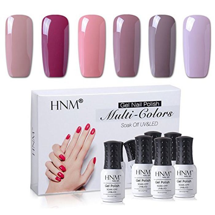 HNM Gel Nail Polish 6 Nude Series Colours