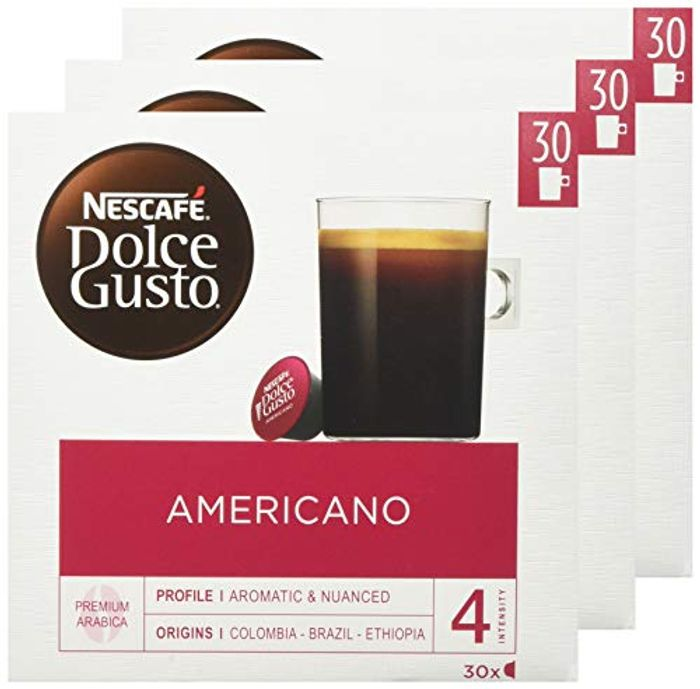 Cheap NESCAF Dolce Gusto Caf Americano Coffee Pods, 30 Capsules, Only £19.09!