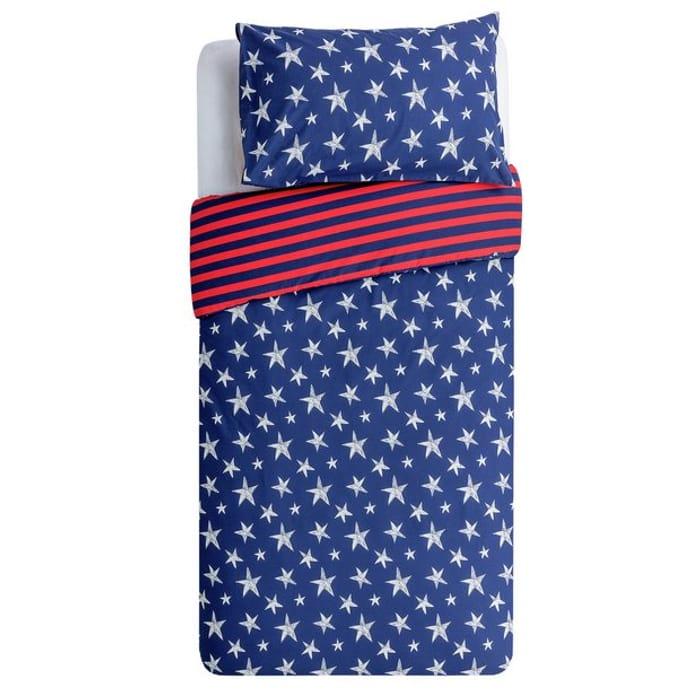 Argos Home Navy Star Bedding Set - Toddler