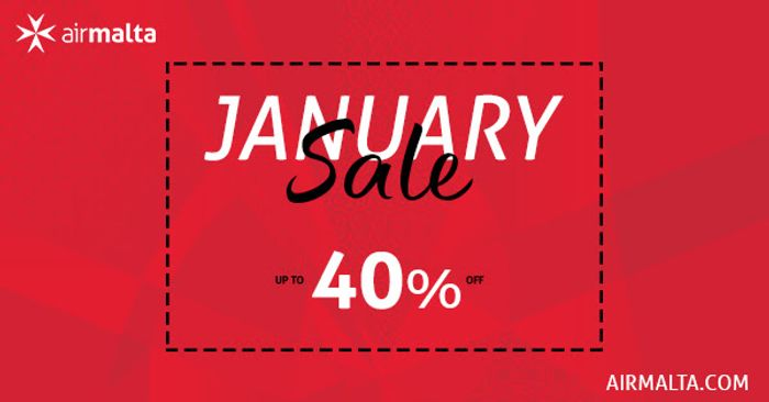 Air Malta - January Sale up to 40% OFF