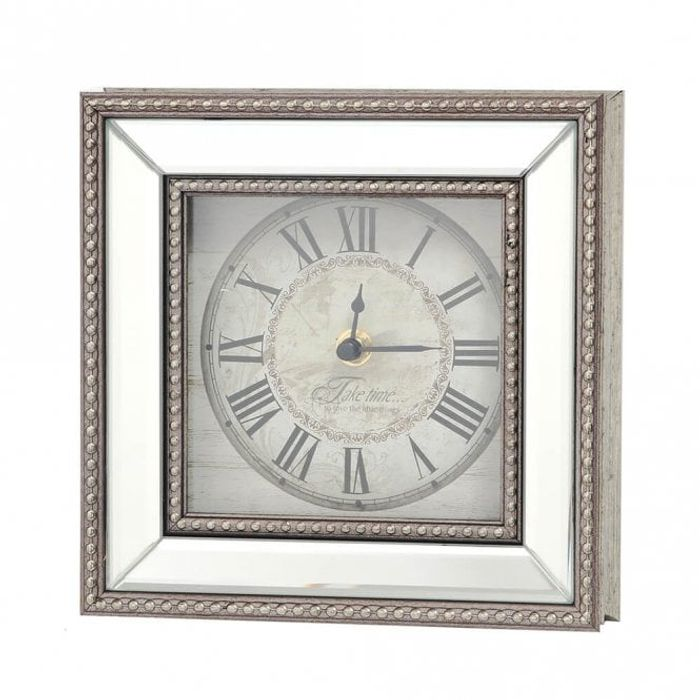 Nautical Small Mirror Beaded Clock - Save £2!