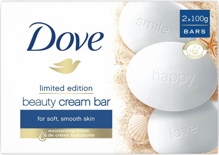 Cheap Dove Original Beauty Cream Soap Bars 2x100g, Only £0.8!
