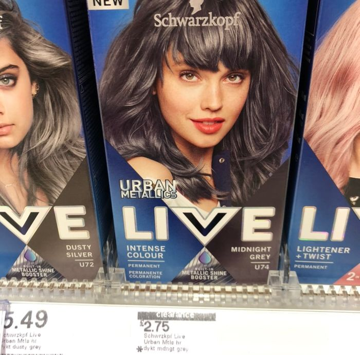 Schwarzkopf LIVE Midnight Grey Permanent Hair Dye at Boots (White Rose Centre)
