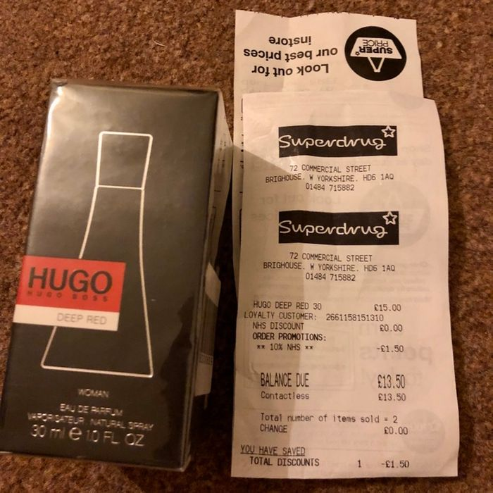 Hugo Boss Deep Red EDP 30ml. Superdrug (Brighouse) £13.50