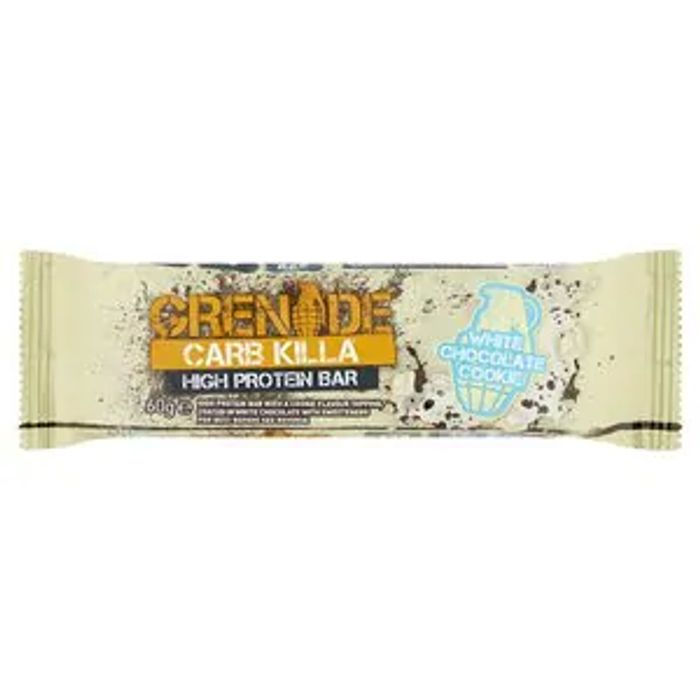 Grenade Carb Killa Bar White Chocolate Cookie 60g - £1 in Superdrug (Brighouse)