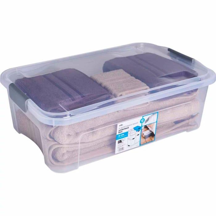 CHEAP! Wilko Modular 32L Underbed Storage Box with Lid