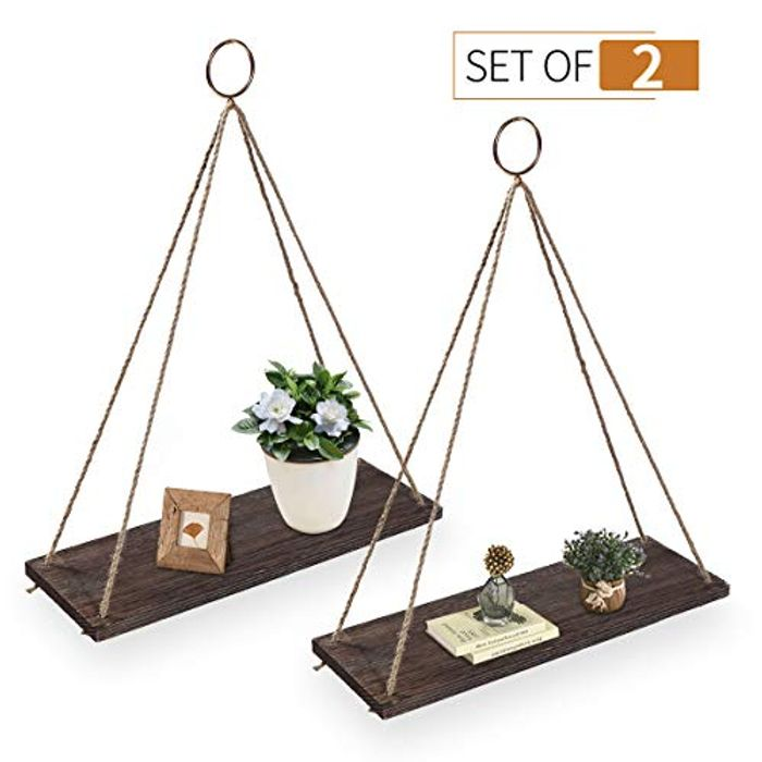 AGSIVO Floating Shelves with String at Amazon