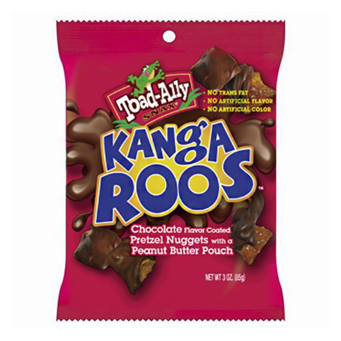 Toad-Ally Kangaroos Chocolate Pretzels Nuggets 3.5oz (85g) BBE 29/9/19