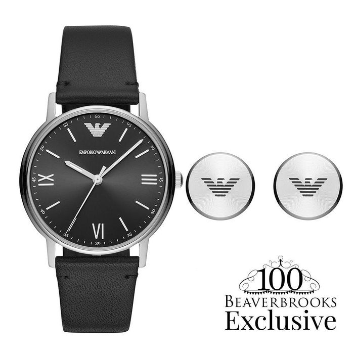 Emporio Armani Exclusive Watch and Cufflink Men's Box Set