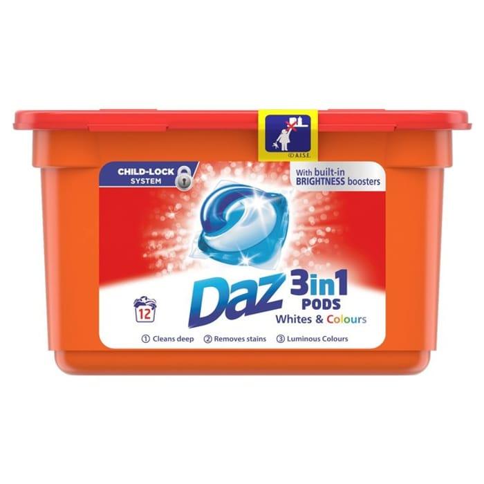 Daz 3 in 1 Washing Pods £2