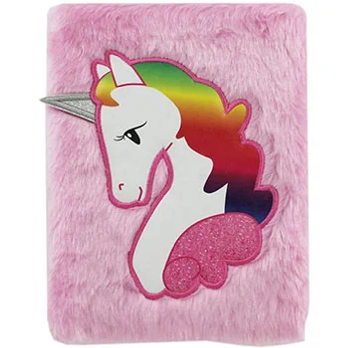 A5 Unicorn Plush Notebook at The Works - Save £1