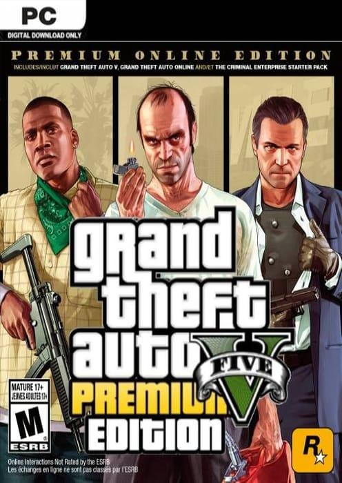 PC Grand Theft Auto v 5 (GTA 5): Premium Online Edition £9.99 at CDKeys