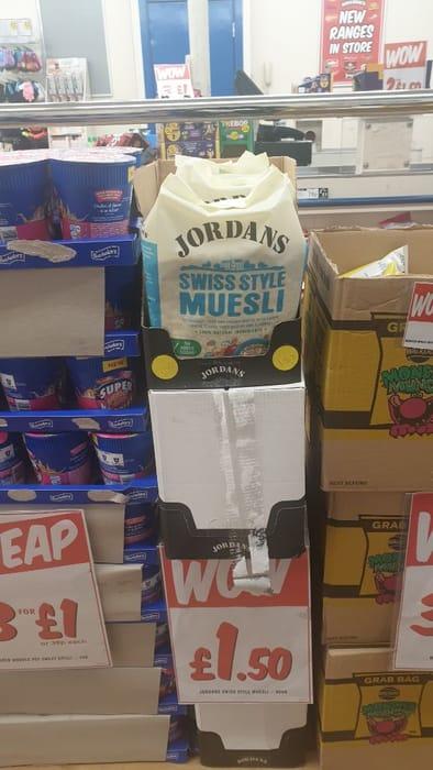 Jordan's Muesli £1.50
