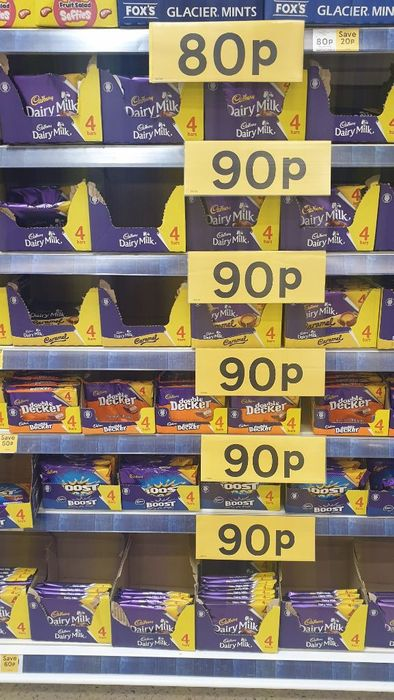 4 Pack Cadbury Boost, Dairy Milk, Double Decker. 90p