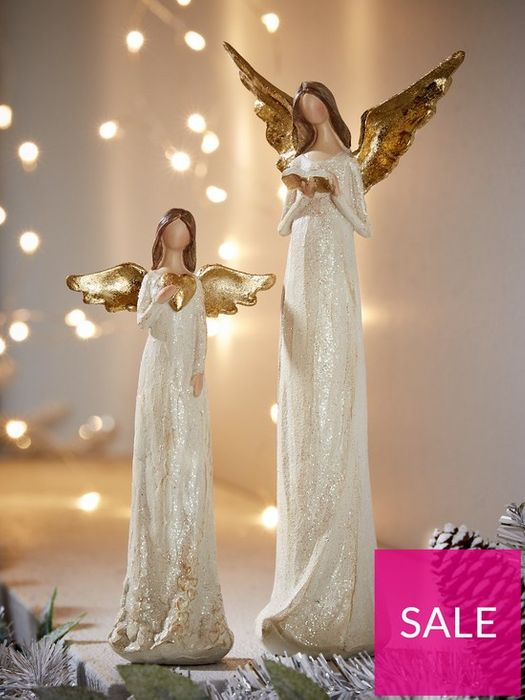 Gisela Graham Angel Christmas Ornaments (Set of 2)