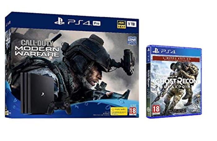 CoD: Modern Warfare PS4 Pro Bundle (PS4) + Ghost Recon Breakpoint Ltd Edition