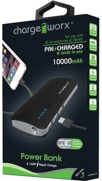 External 10000mAh Power Bank Portable 3 USB Battery Charger Fr Mobile Phone