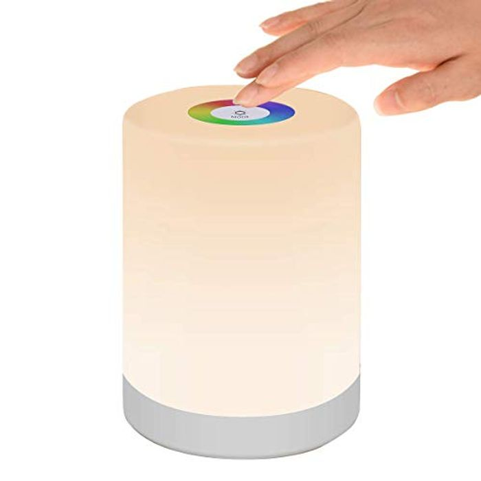 LED Night Light, Smart Bedside Table Lamp, Touch Control, Dimmable