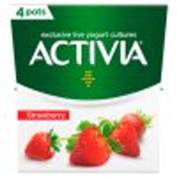 Activia Strawberry Yogurt 4x120g