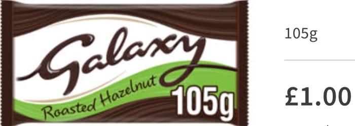 Cheap Galaxy Darker Milk with Hazelnuts Chocolate Block 105g Only £1!
