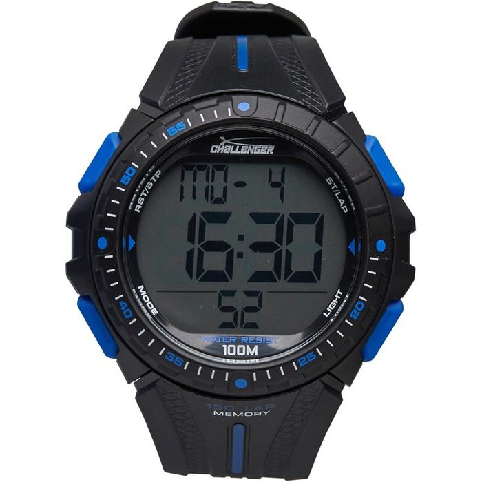 Best Price! Challenger 100m Water Resistant Watch Black - Save £30