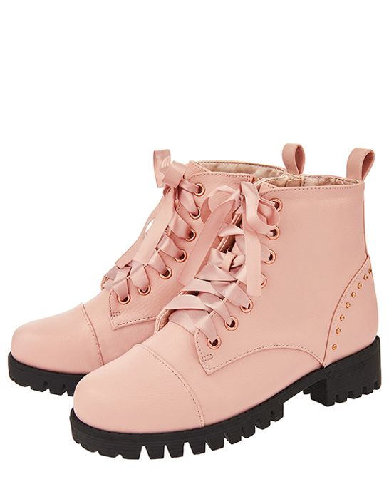 Children Evie Chunky Lace up Boots at Monsoon