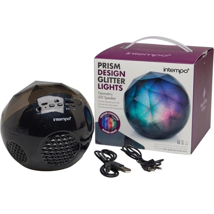 *SAVE £21* Intempo Glitter Geode Ball Bluetooth Speaker Black