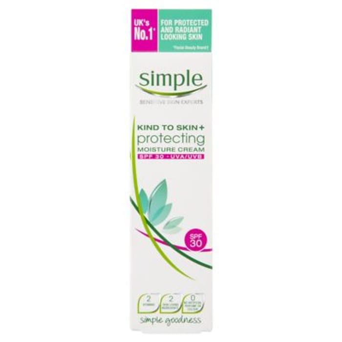 Simple Kind to Skin+ Moisture Cream SPF30 Protecting 50ml - HALF PRICE!