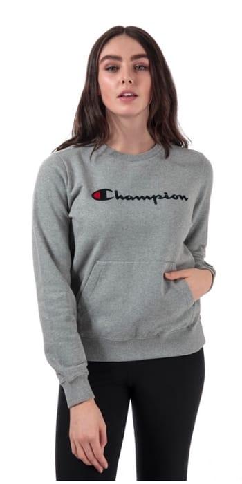 Champion Womens Garment Washed Crew Sweatshirt