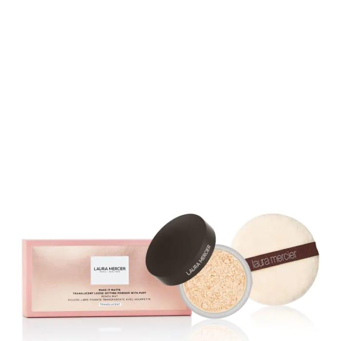 Best Price! Laura Mercier Make It Matte Powder & Puff Translusent Medium Deep