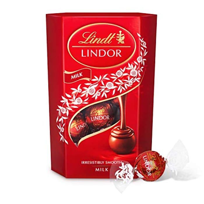 Lindt Lindor Milk Chocolate Truffles Box (Amazon Pantry