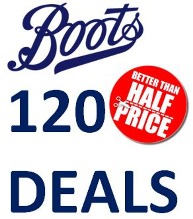 Boots January Sale - 120 BETTER than 1/2 PRICE DEALS