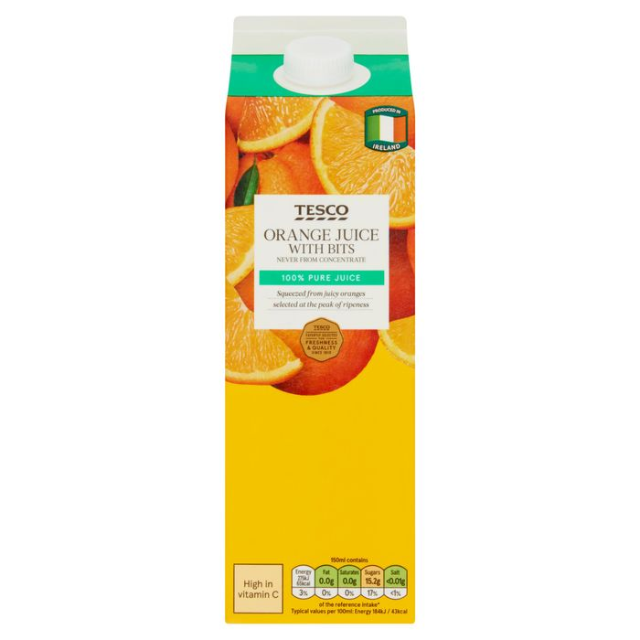 Best Price! 1ltr Orange Juice, Not from Concentrate £1.10 or 2 for £2