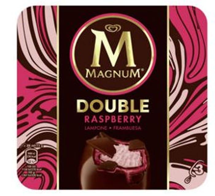 Magnum 3 Double Raspberry Ice Creams