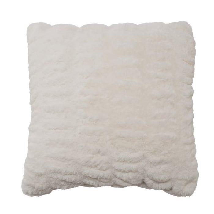 Argos Home Winter's Cabin Fur Cushion - White
