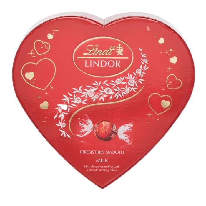 Best Price! Lindt Lindor Amour Milk Chocolate Truffles Heart Shaped Box 160g