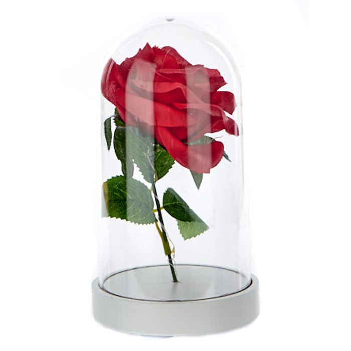 Light-up Valentine's Day Rose in a Dome Ornament