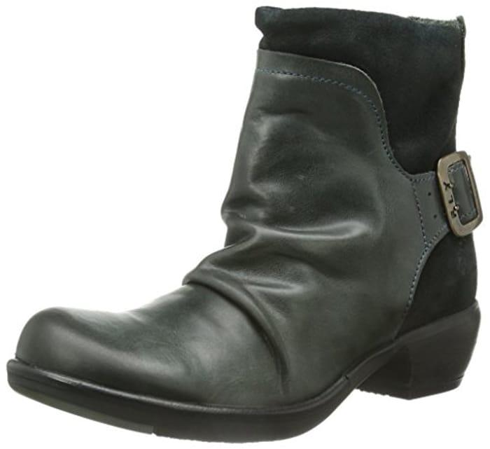 Fly London Women's Mel Ankle Boots - Size 3 Grey Diesel