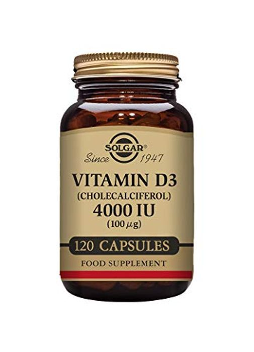 Solgar Vitamin D3 (Cholecalciferol) 4000 IU (100 G) Vegetable Capsules
